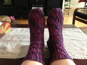Armour Road Socks in Plum