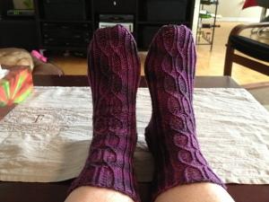 Armour Road Socks in Plum