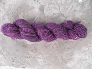 My first 4 oz skein of yarn!