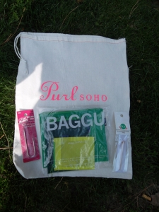 Purl Soho notions - including the requisite project bag!