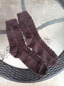 Pre-blocked socks