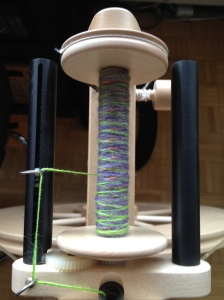Random Halloween-themed fibre spin