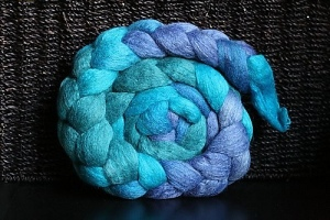 "Friends In Fiber BFL/Silk in ""Blue Moon"""